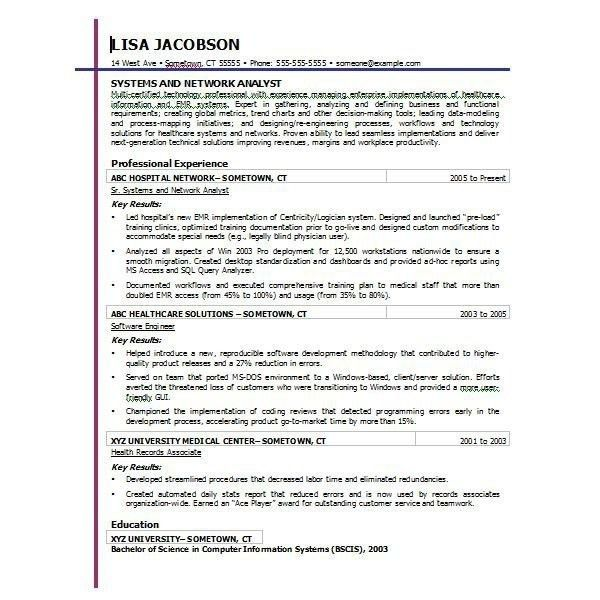 Microsoft Word Resume Template Free | Template Idea