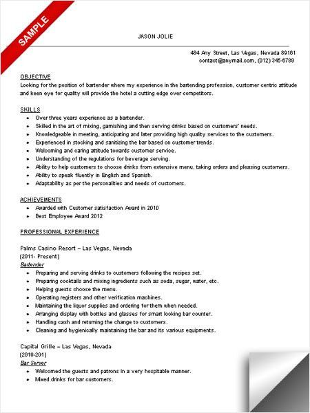 head bartender job description. job resume outline bar job resume ...
