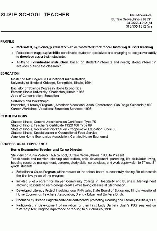 High School Science Teacher Resume - Best Resume Collection