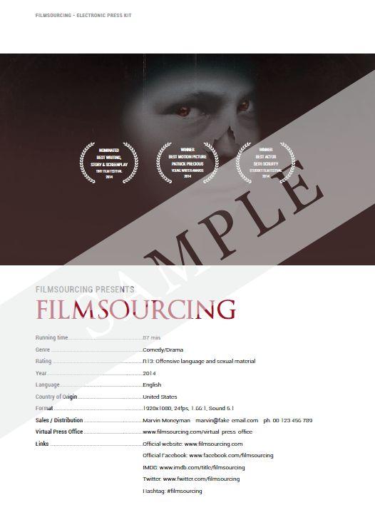 EPK, Electronic Press Kit Templates and Samples | Filmmaking ...