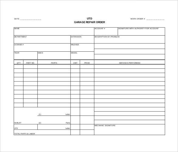 Order Template – 20+ Free Word, Excel, PDF Documents Download ...
