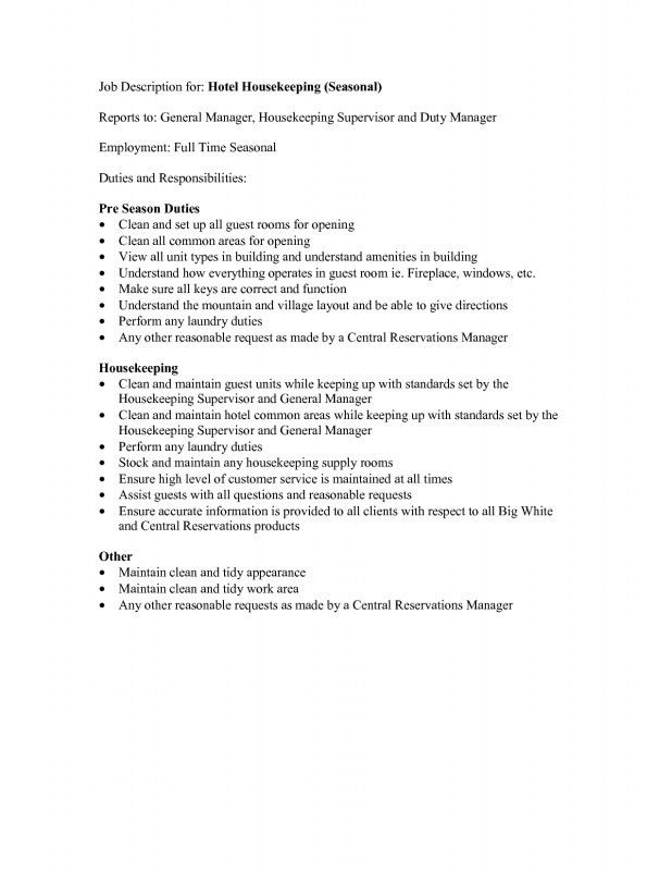 Job Description Janitor   Experience Letter By Hr