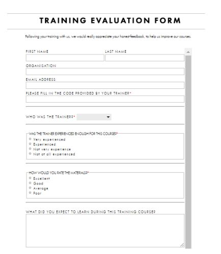 Evaluation Templates | Free Word Templates