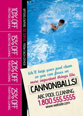 8 Brilliant Swimming Pool Service Direct Mail Postcard Advertising ...