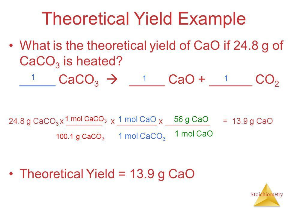 Theoretical Yield Equation Example - Jennarocca