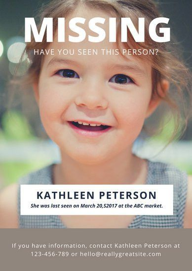Photo Missing Person Poster - Templates by Canva