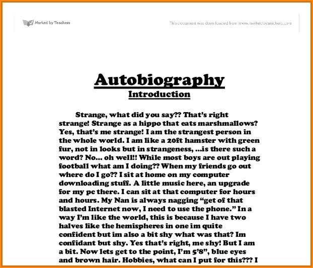 7+ autobiography of astudent - Basic Job Appication Letter