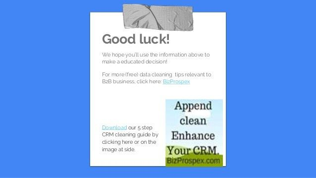 Can you afford to let software append and clean the most crucial B2B …