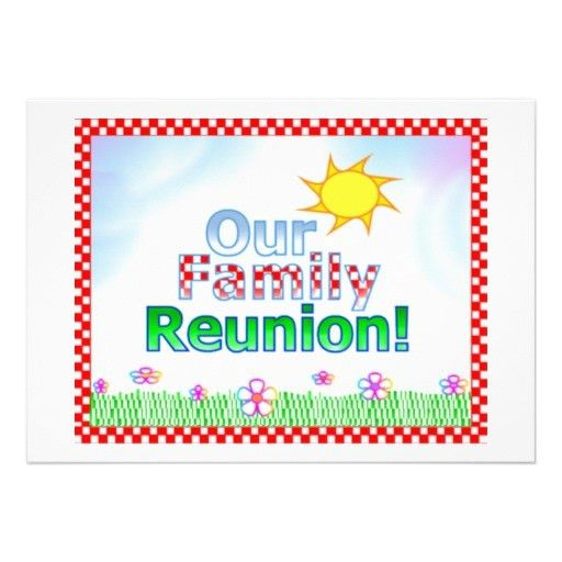 20 best family reunion invitations images on Pinterest | Family ...