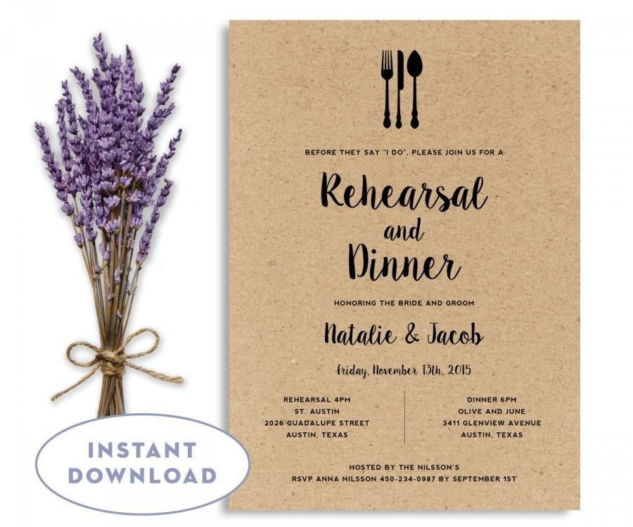 Rehearsal Dinner Invitation Template, Wedding Rehearsal Editable ...
