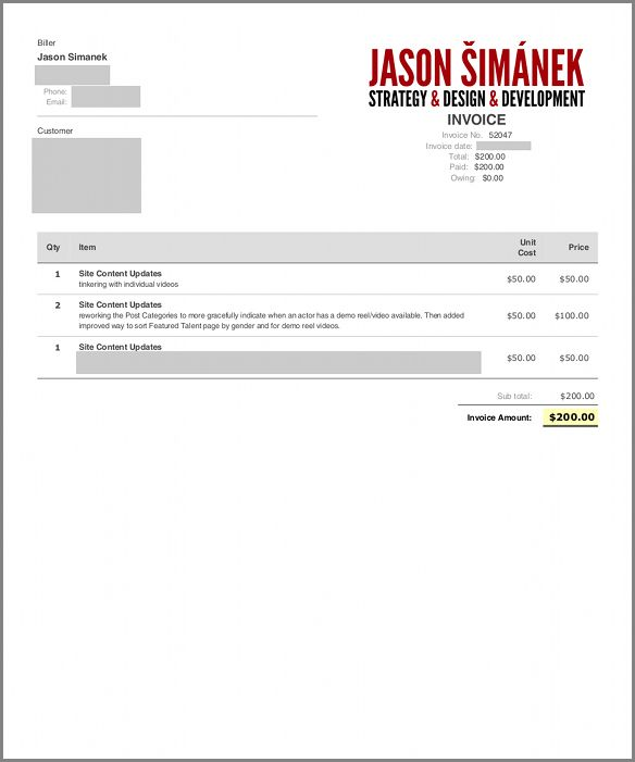 Website Invoice Template | Free Business Template