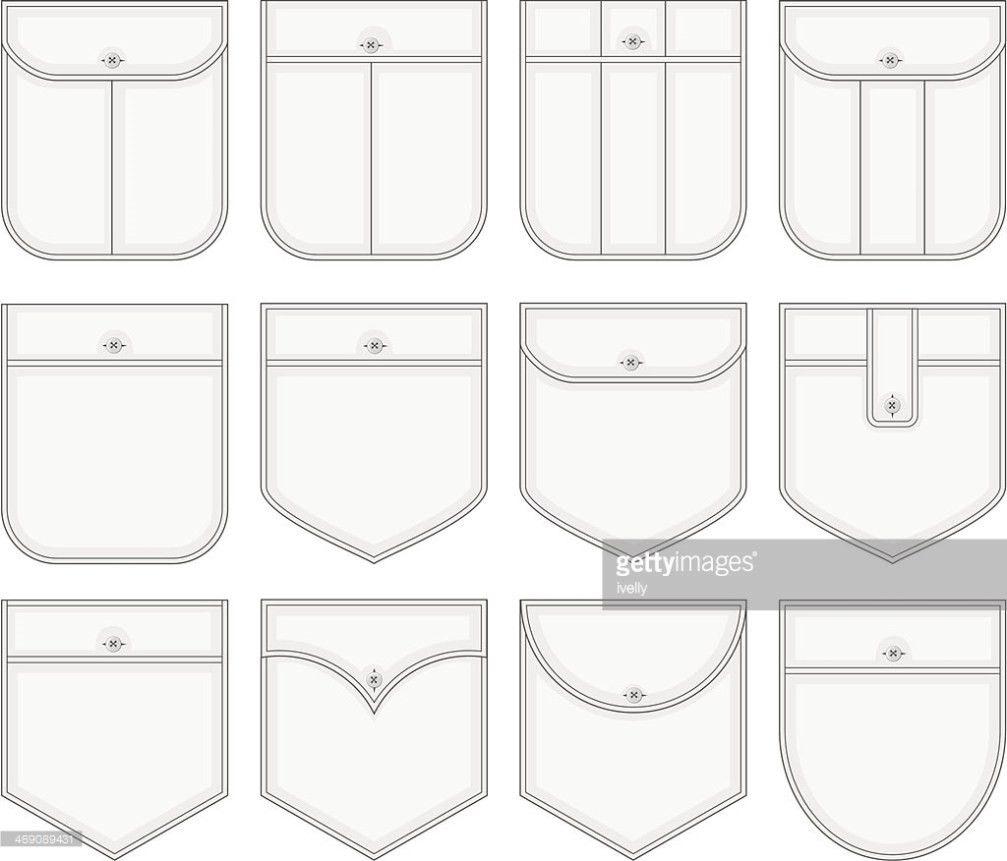 Shirt Pockets Vector Art   Thinkstock