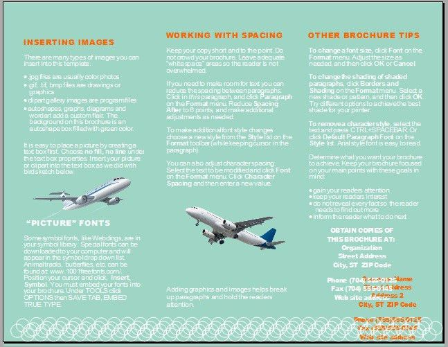 3 Free Sample Airline Brochure Templates – OpenOffice Writer Templates
