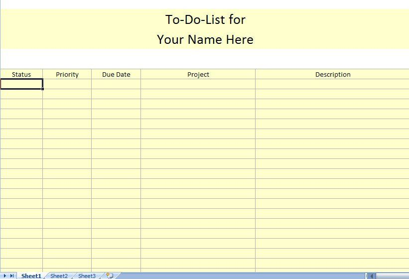To Do List Template For Work | to do list template