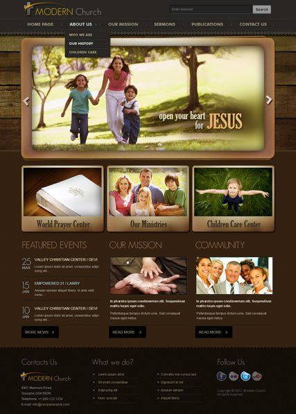 Modern Church v2.5 Joomla Theme | Best Website Templates