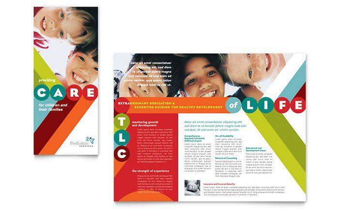 preschool flyers design | All Templates > Brochures > Pediatrician ...