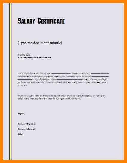 6+ salary certificate doc | forklift resume