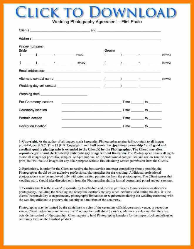 9+ wedding photography contract template | army memo format