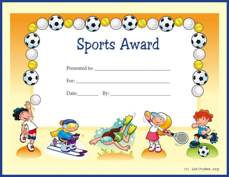 FREE Sports Award Certificate (Primary) | ACN Latitudes