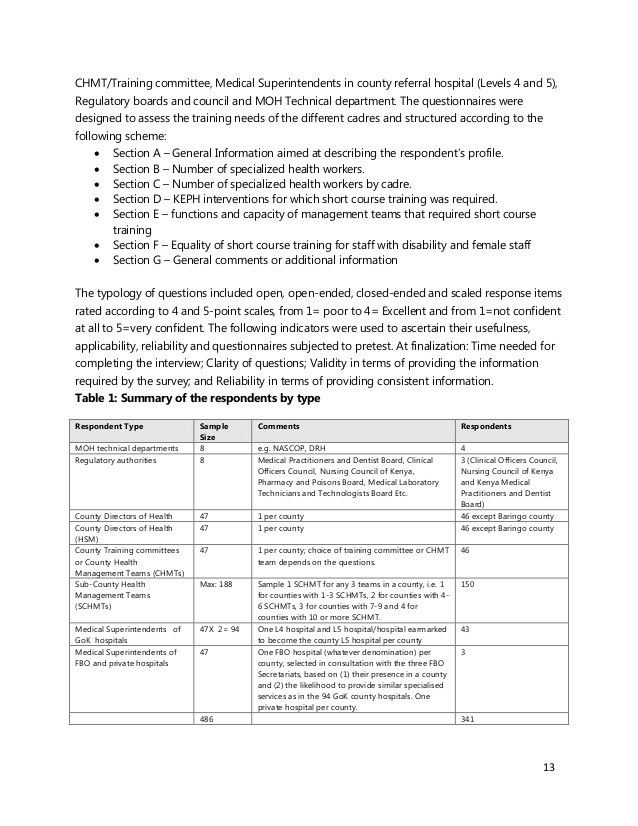 Sample Needs Assessment. Sample Needs Assessment Survey Template ...