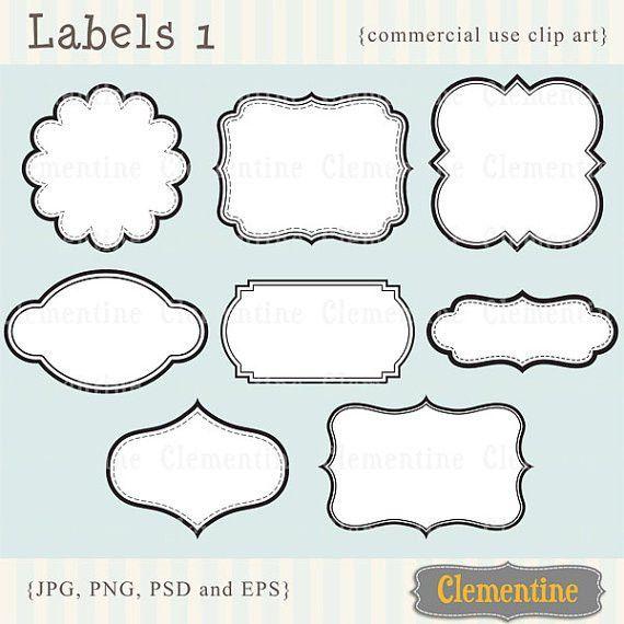 Printable labels clip art images scrapbook clip art