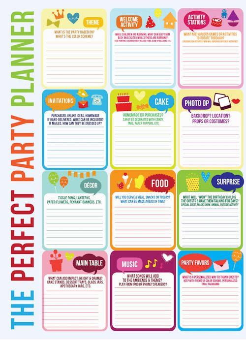 FREE Download! Party Planning Timeline + Mini Cake Pennant Flags ...