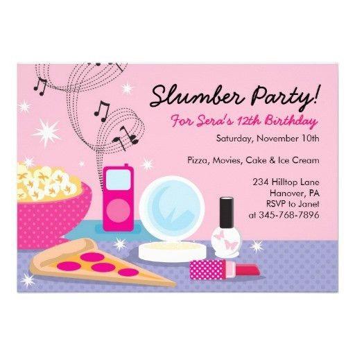 Sleepover Party Invitations Templates Free | birthday | Pinterest ...
