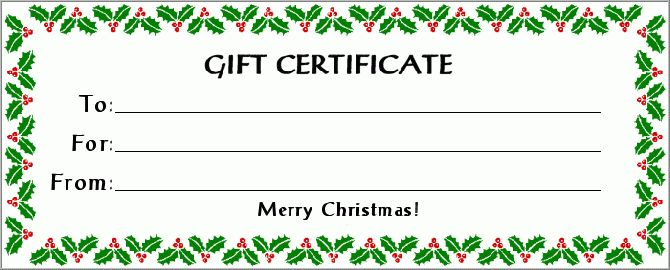 Homemade gift certificate for yard work | Gift Certificate ...