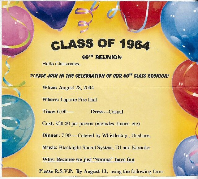 Reunion Party Invitations | Class reunion ideas and Class reunion ...