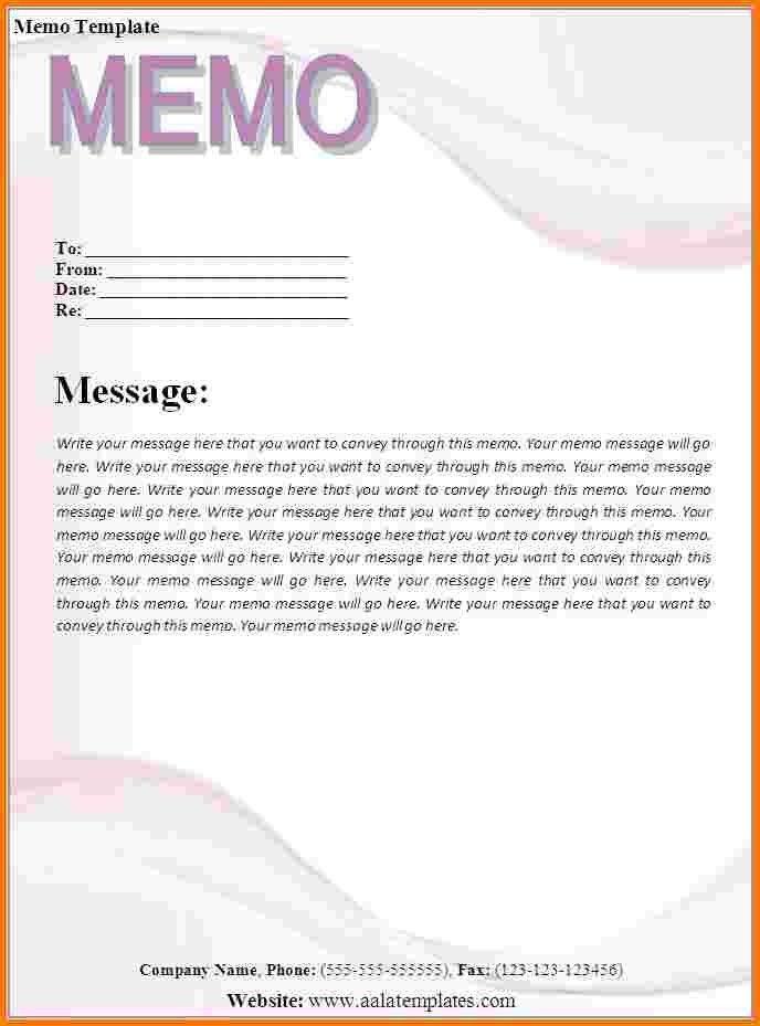 Sample Memo. Business Informative Memo Template Sample Example ...