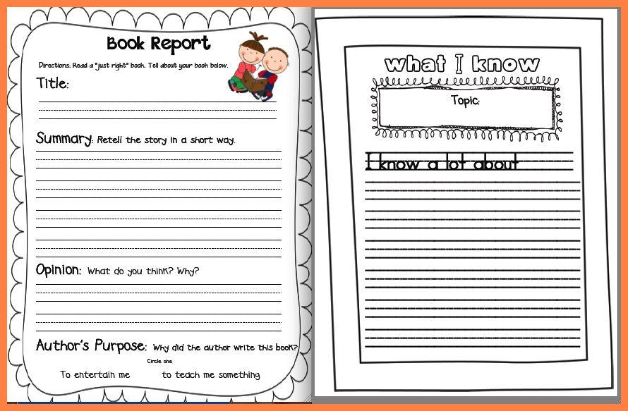 6+ non fiction book report template middle school | Progress Report