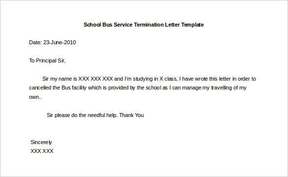 13 Service Termination Letter Templates Free Sample Example ...