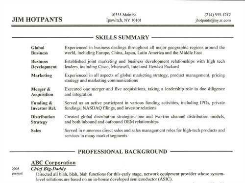 Resume Skills Section Examples | berathen.Com