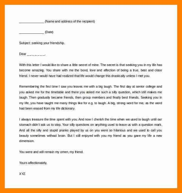 4+ letter format to friend | resumes great