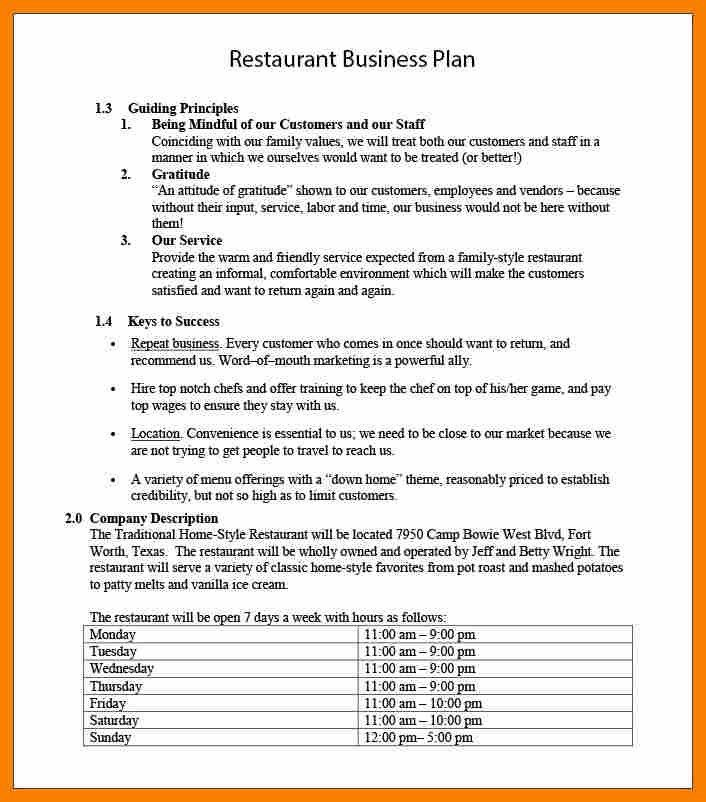 Restaurant Concept Examples.Free Restaurant Business Plan Template ...