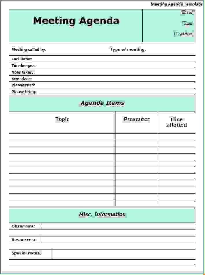 11 Meeting Agenda Word TemplateAgenda Template Sample | Agenda ...