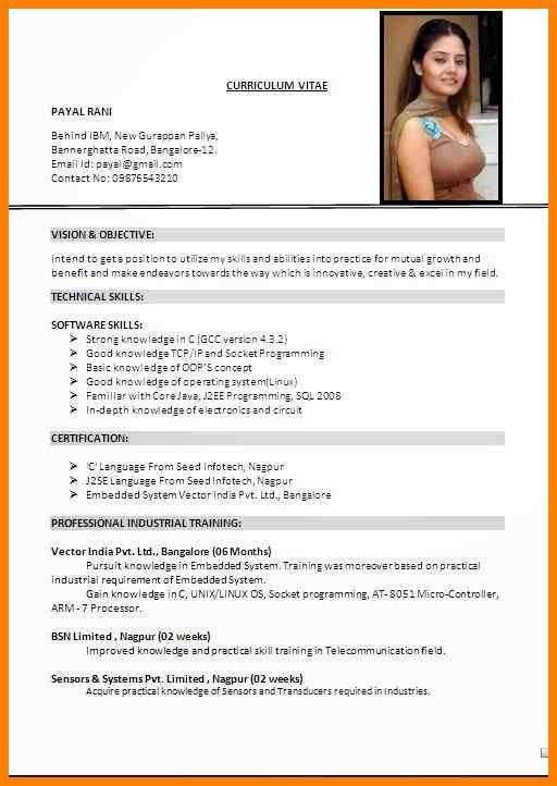 Sample Format Of Resume. Sample Format Resume Select Template ...