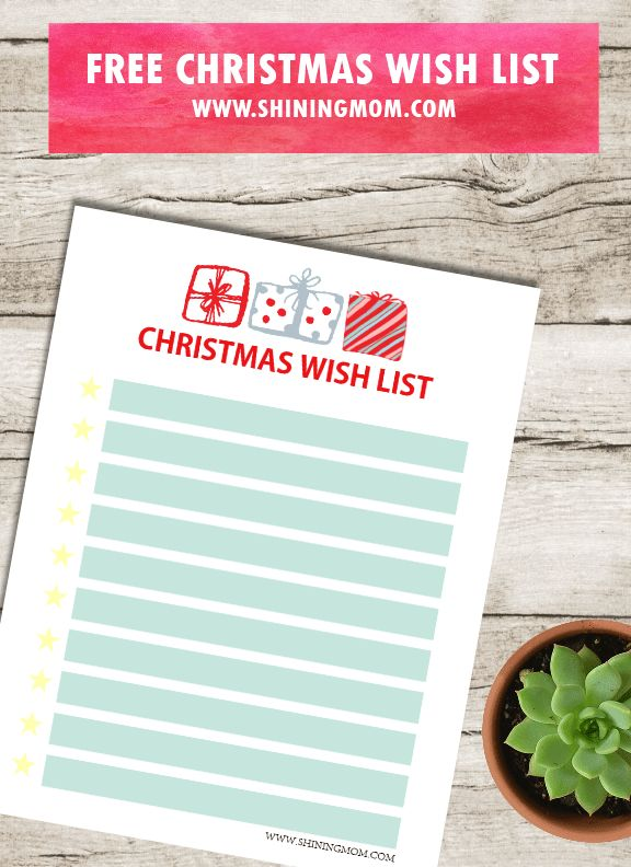 Free Christmas Gift Wish List for Kids: Cute Designs!