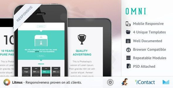 35+ Best Responsive Email Templates 2015