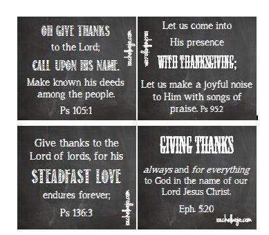 FREE Thanksgiving Bible Verse Cards