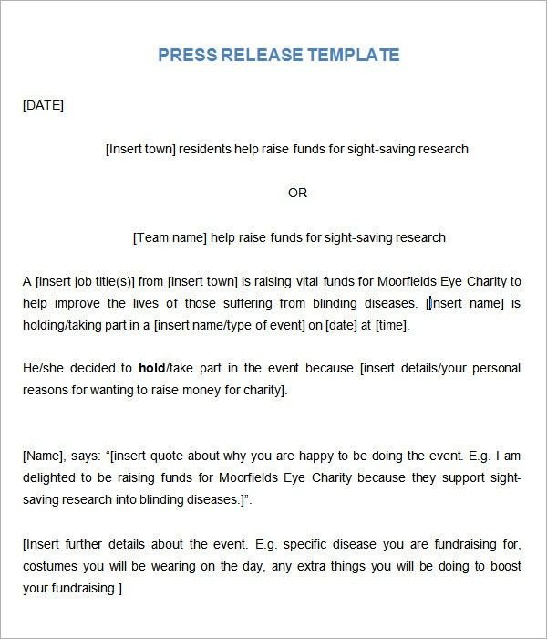 jakes pre event press release template. ceo announcement press ...