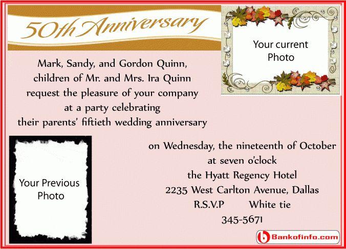 invitation letter for wedding anniversary
