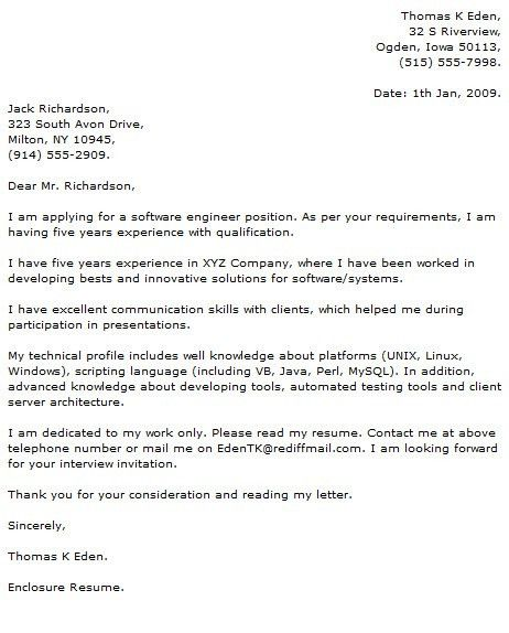 Technology Cover Letter Examples   Cover Letter Now