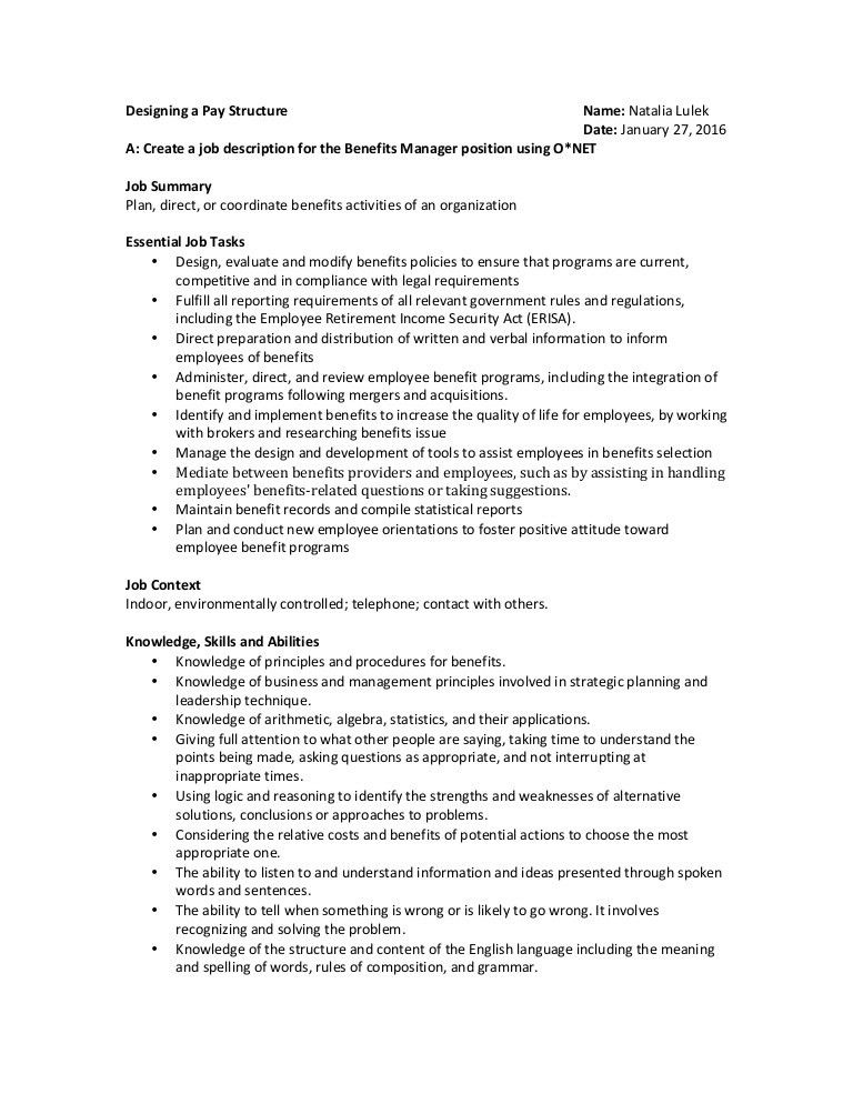 Compensation & Benefits Project