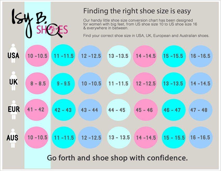 Shoe Size Chart |