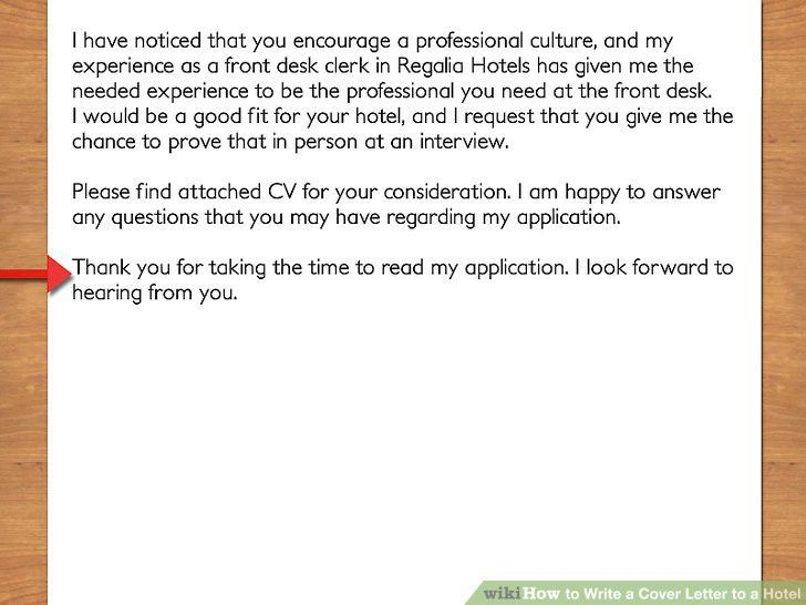 Hotel front desk cover letter with no experience