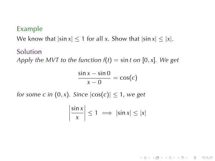 Lesson 20: The Mean Value Theorem