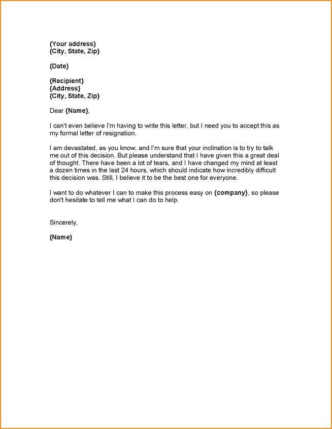 Sample Notice Letter To Employer Resignation Letter Sample 2016 ...