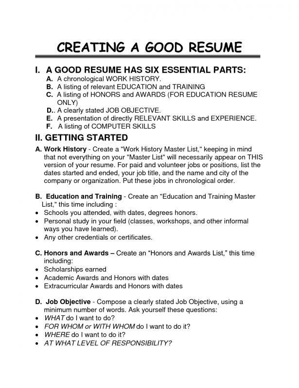 Good Job Resume Examples  MayotteOccasionsCo