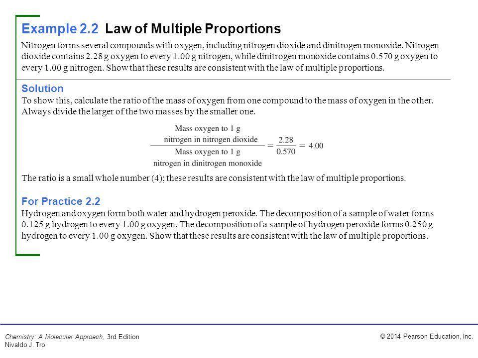 2014 Pearson Education, Inc. Chemistry: A Molecular Approach, 3rd ...